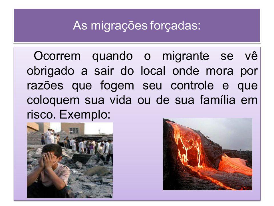 As migrações forçadas: