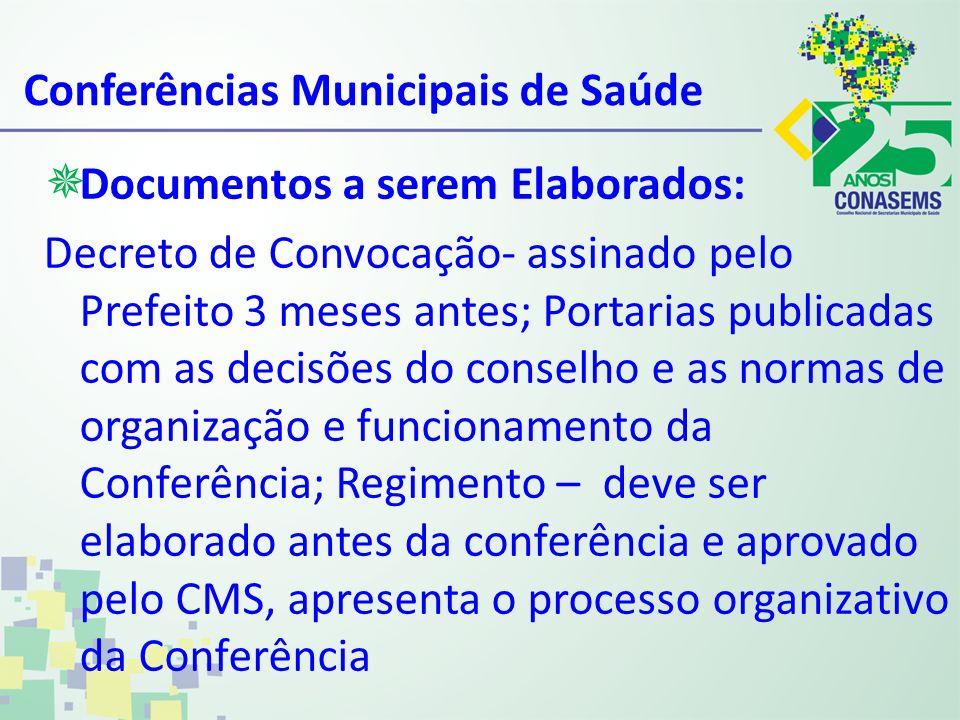 Conferências Municipais de Saúde