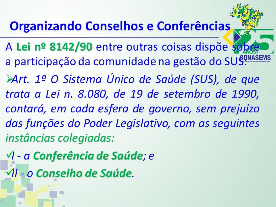 Organizando Conselhos e Conferências