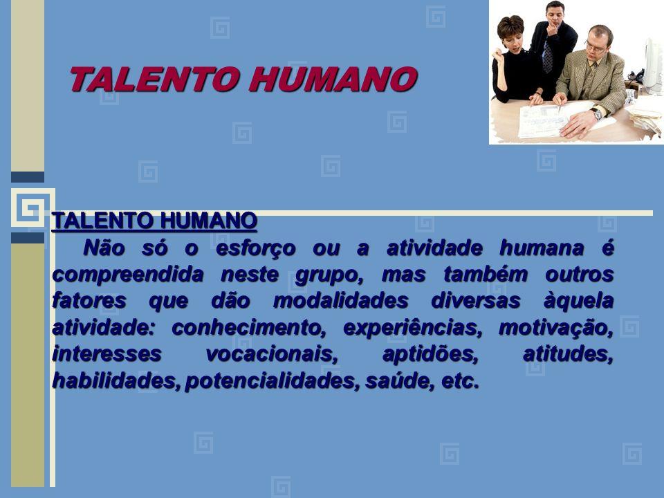 TALENTO HUMANO TALENTO HUMANO