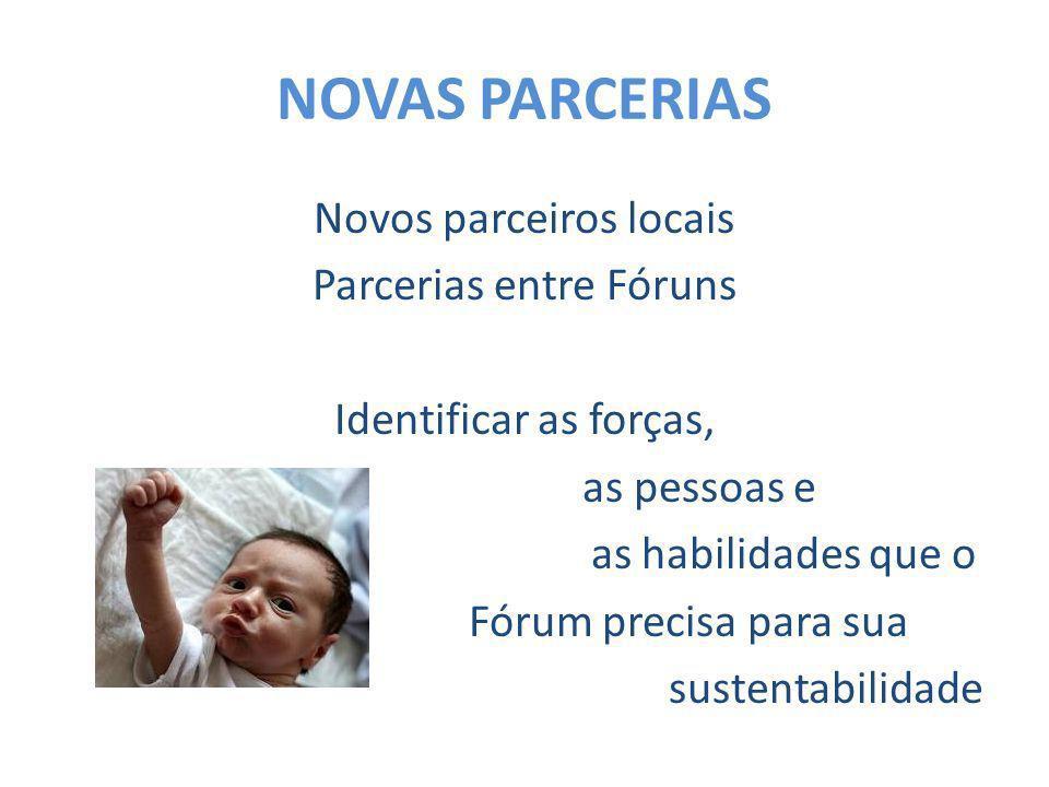 NOVAS PARCERIAS