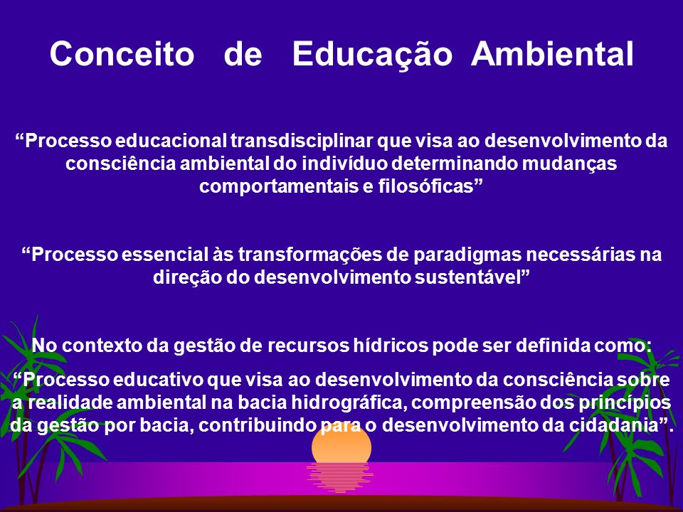 Conceito de Educação Ambiental