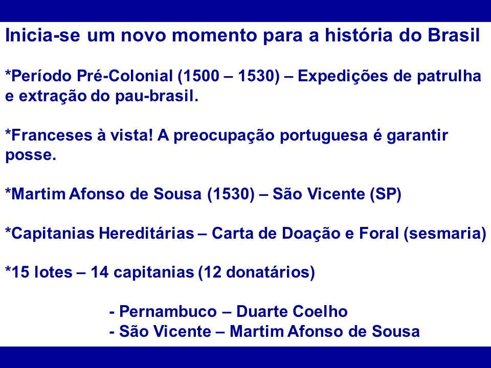 Inicia-se um novo momento para a história do Brasil