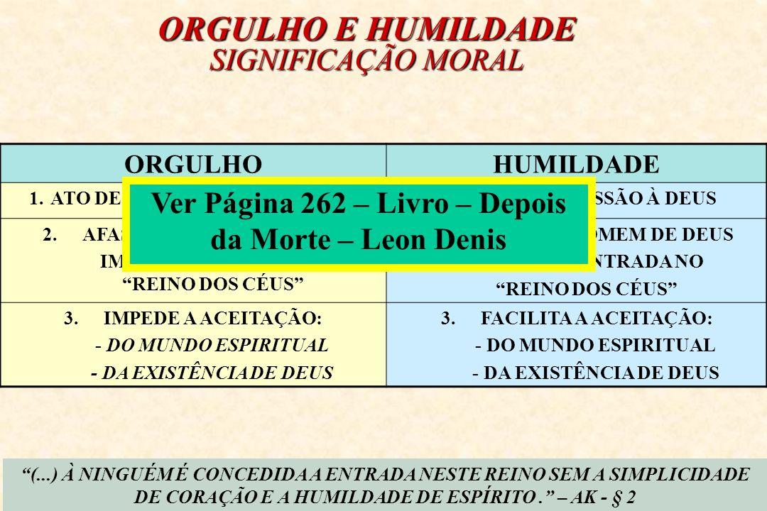 ORGULHO E HUMILDADE SIGNIFICAÇÃO MORAL