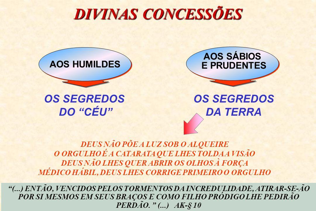 DIVINAS CONCESSÕES OS SEGREDOS DO CÉU OS SEGREDOS DA TERRA