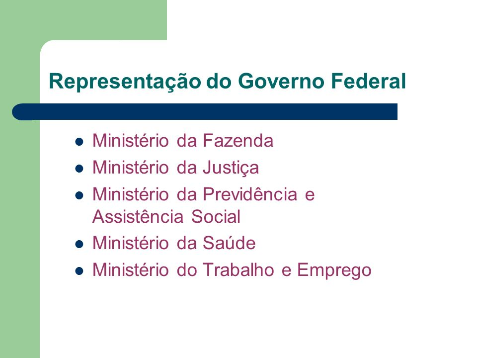 Representação do Governo Federal