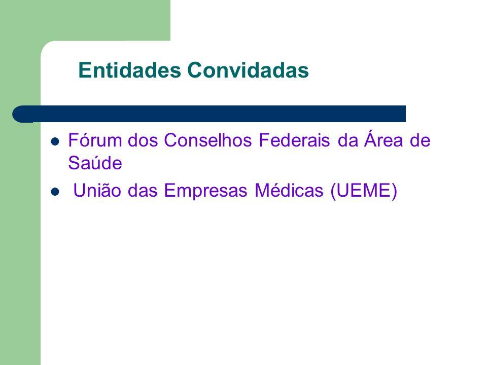 Entidades Convidadas Fórum dos Conselhos Federais da Área de Saúde