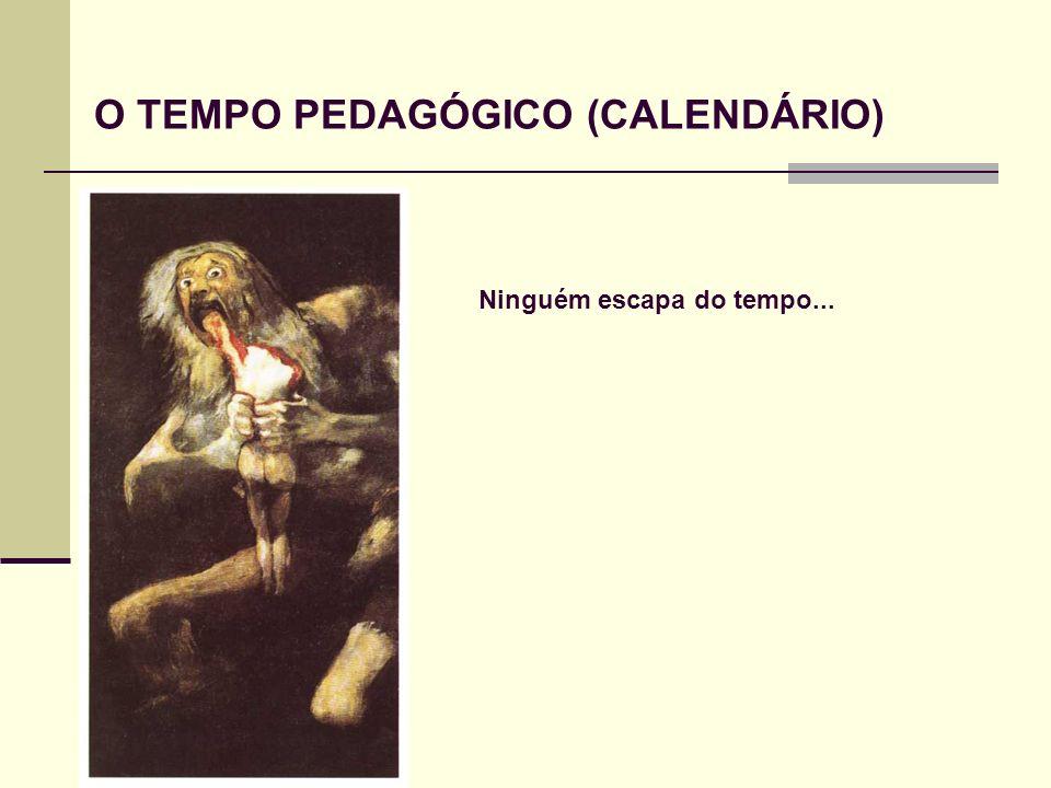 O TEMPO PEDAGÓGICO (CALENDÁRIO)