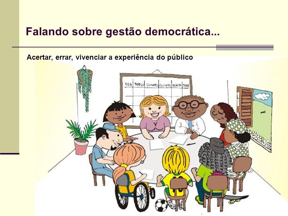 Falando sobre gestão democrática...