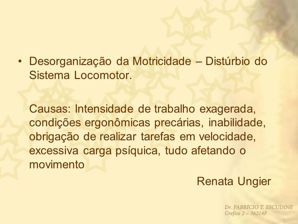 Desorganização da Motricidade – Distúrbio do Sistema Locomotor.
