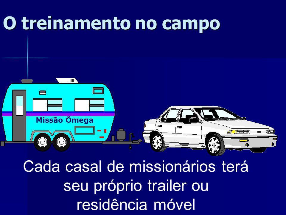 Cada casal de missionários terá seu próprio trailer ou
