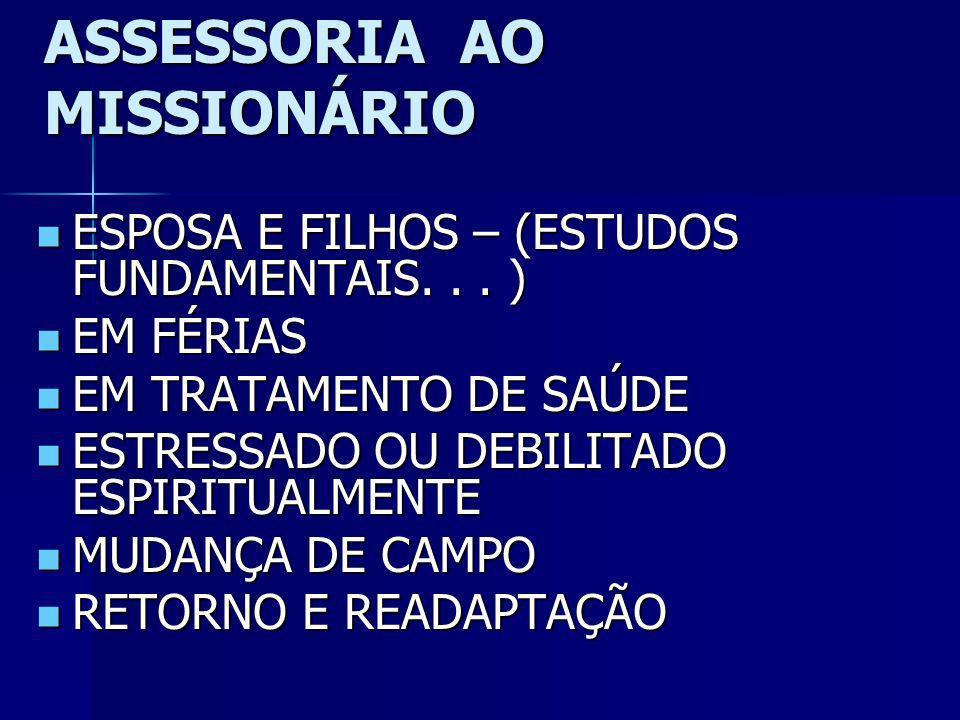 ASSESSORIA AO MISSIONÁRIO