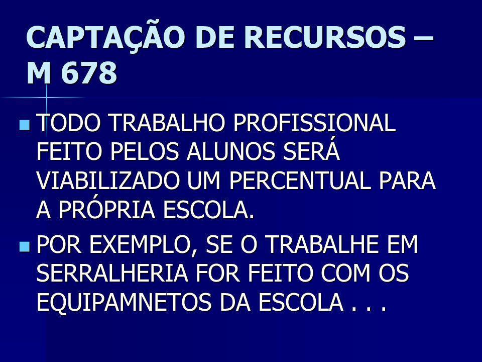 CAPTAÇÃO DE RECURSOS – M 678