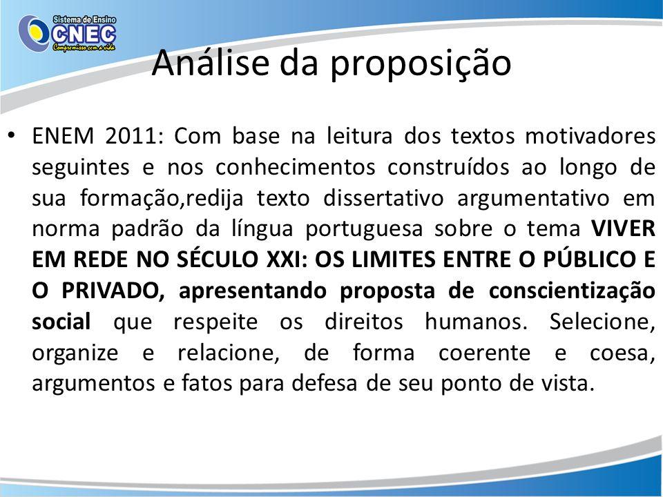 Análise da proposição