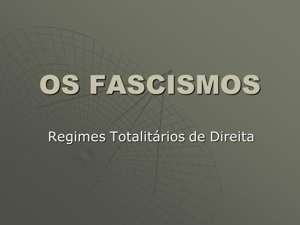 Regimes Totalitários de Direita