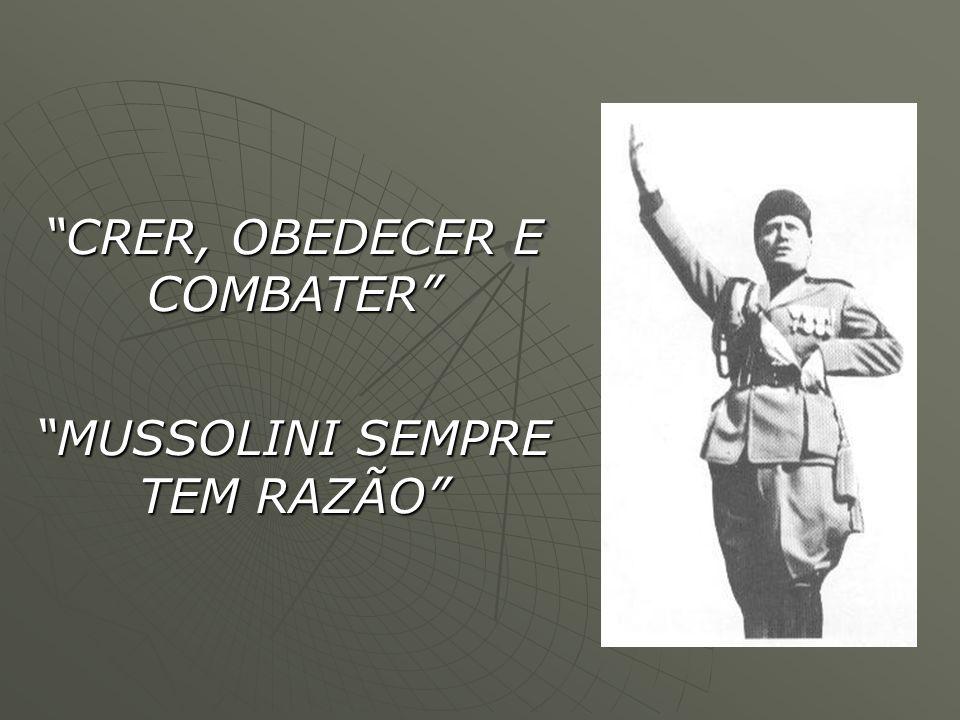 CRER, OBEDECER E COMBATER