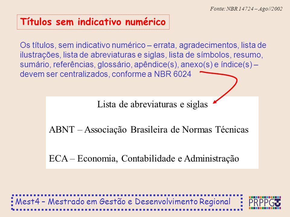 Títulos sem indicativo numérico