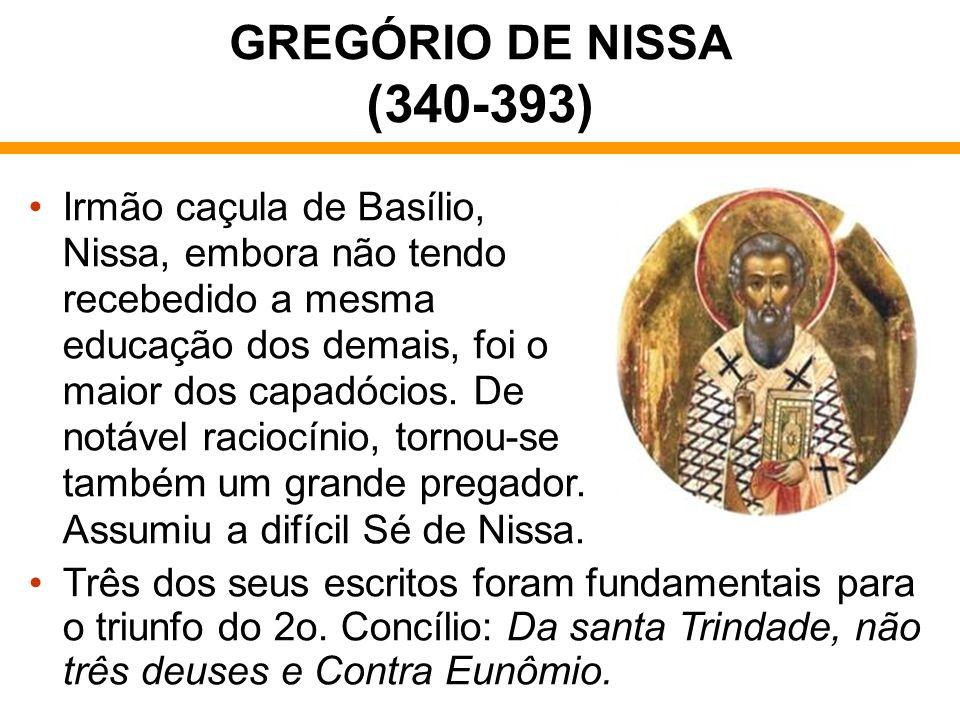 GREGÓRIO DE NISSA (340-393)