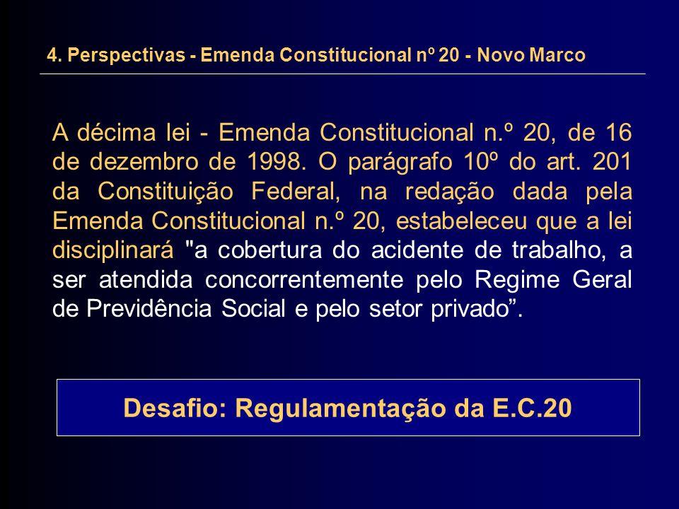 Desafio: Regulamentação da E.C.20