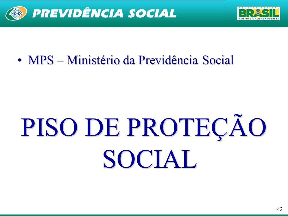 PISO DE PROTEÇÃO SOCIAL