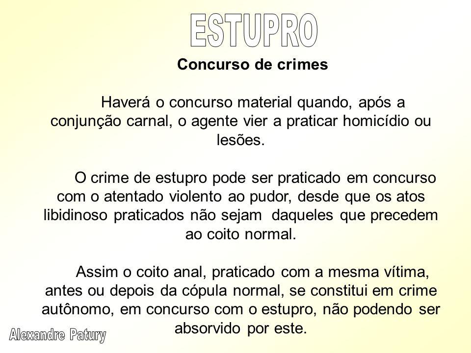 ESTUPRO Concurso de crimes