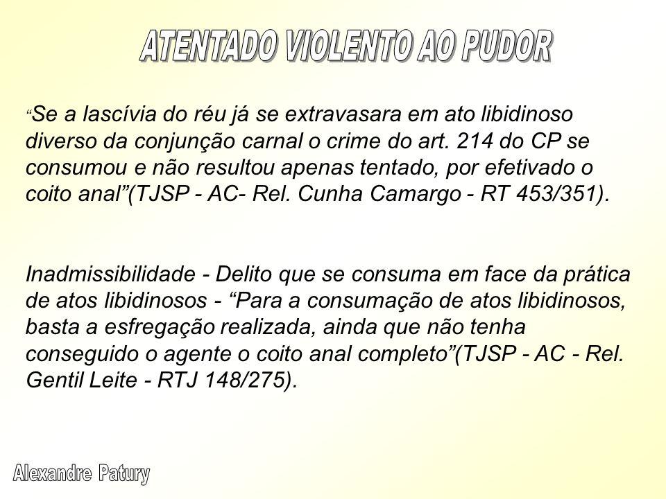 ATENTADO VIOLENTO AO PUDOR