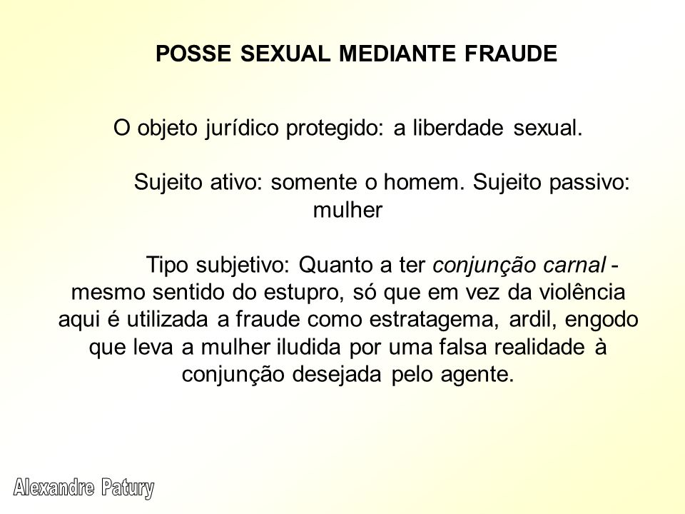 POSSE SEXUAL MEDIANTE FRAUDE