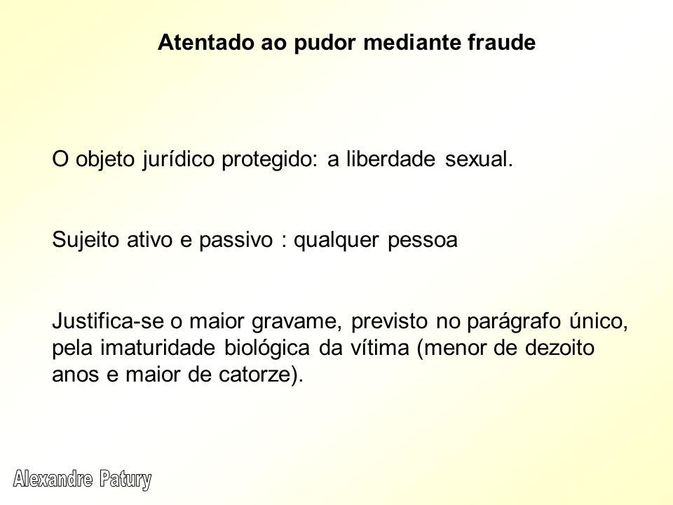 Atentado ao pudor mediante fraude