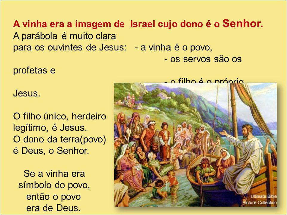 A vinha era a imagem de Israel cujo dono é o Senhor.