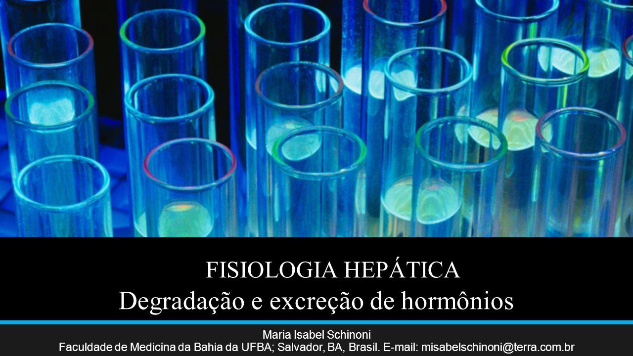 FISIOLOGIA HEPÁTICA Degradação e excreção de hormônios