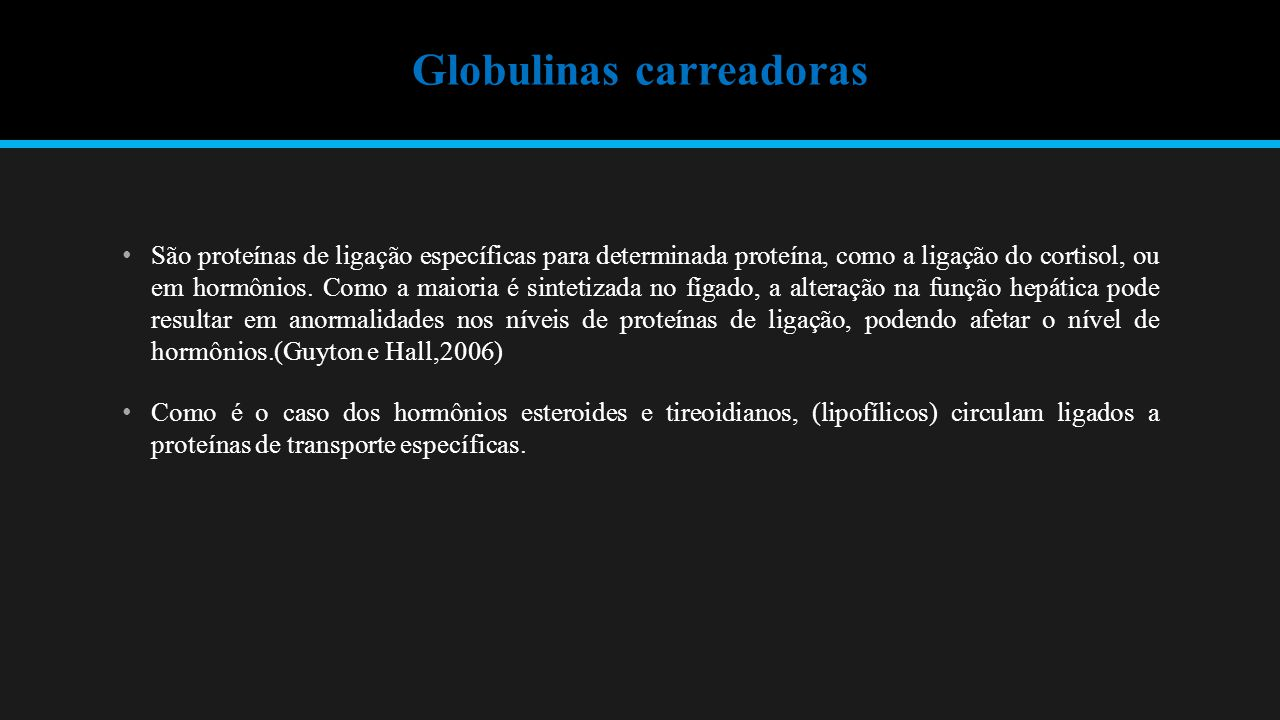 Globulinas carreadoras