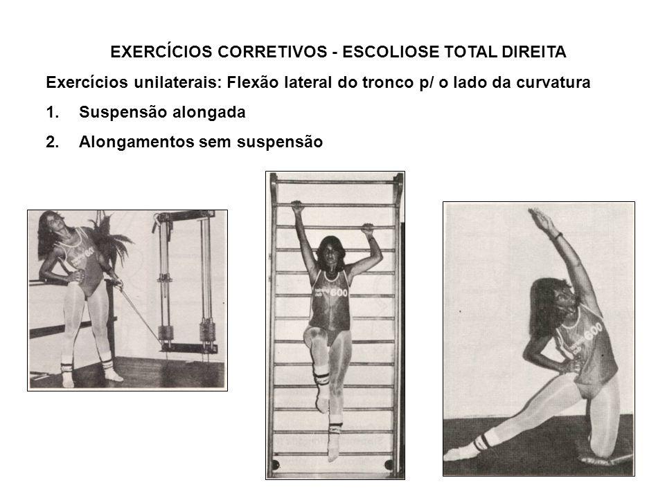 EXERCÍCIOS CORRETIVOS - ESCOLIOSE TOTAL DIREITA