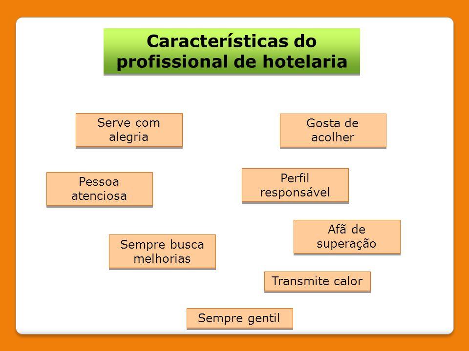 Características do profissional de hotelaria