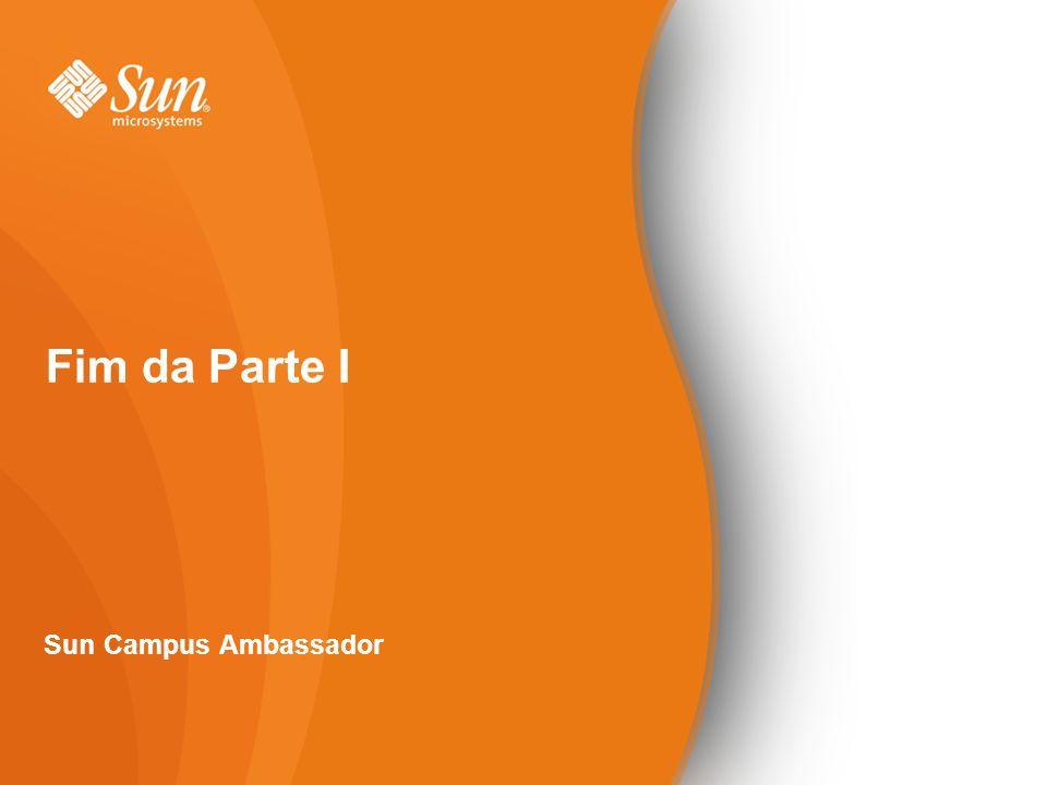 Fim da Parte I Sun Campus Ambassador