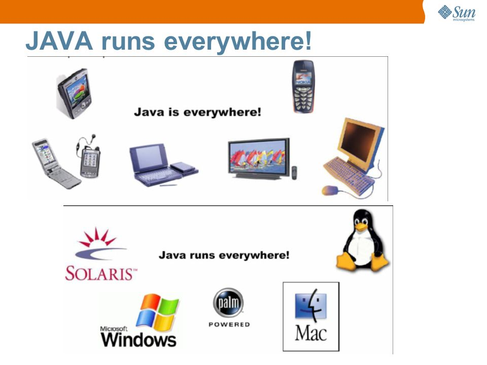 JAVA runs everywhere!