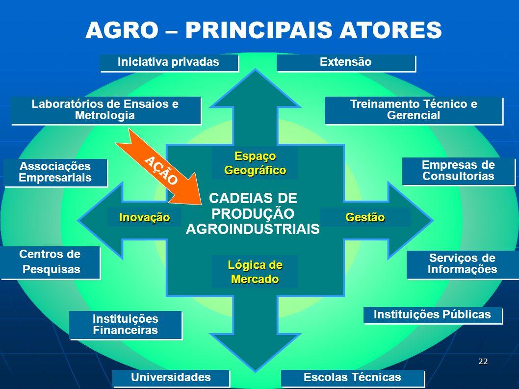 AGRO – PRINCIPAIS ATORES