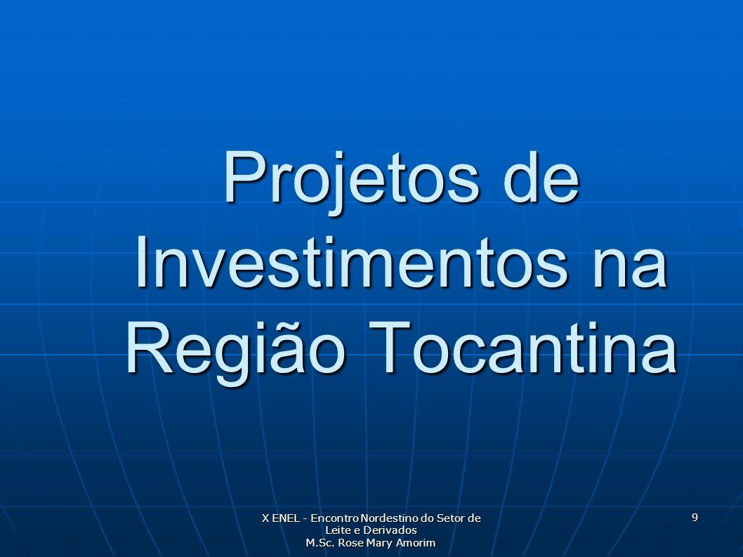 Projetos de Investimentos na Região Tocantina
