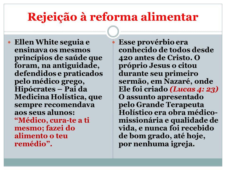 Rejeição à reforma alimentar