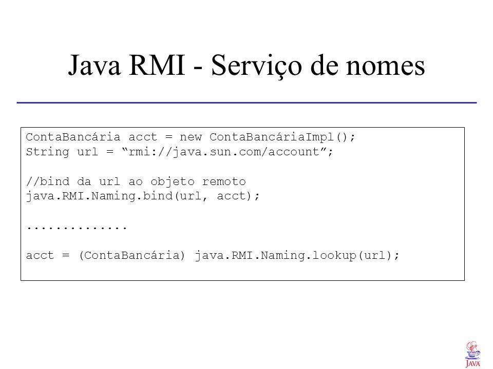 Java RMI - Serviço de nomes