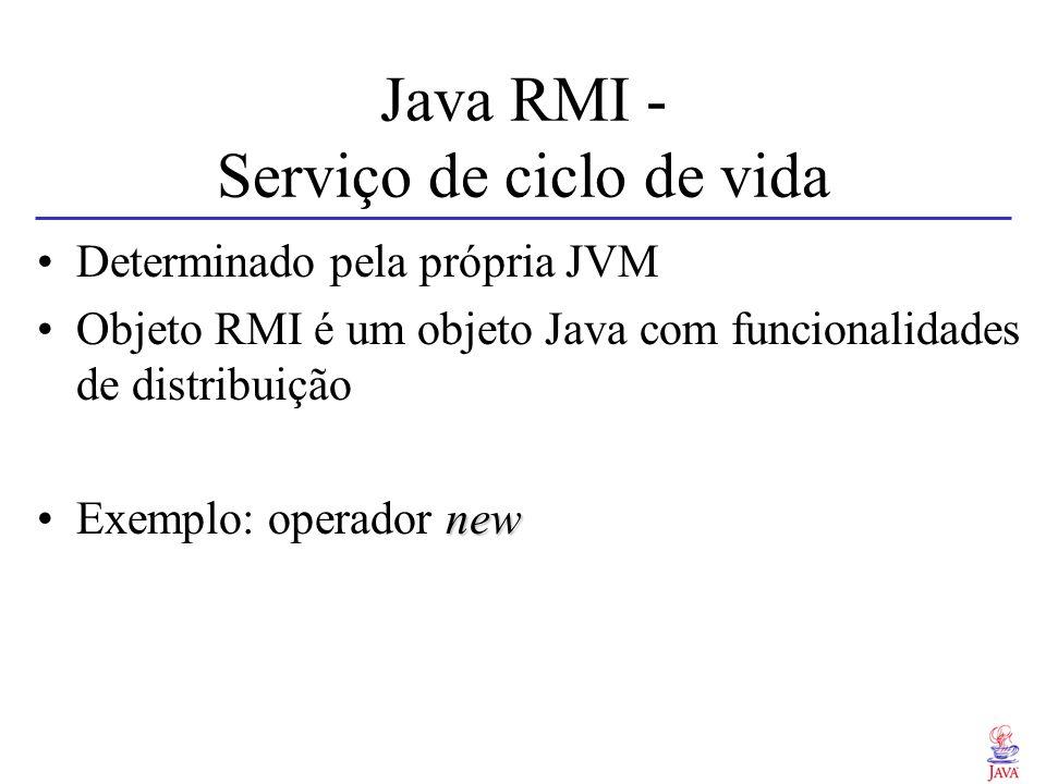Java RMI - Serviço de ciclo de vida