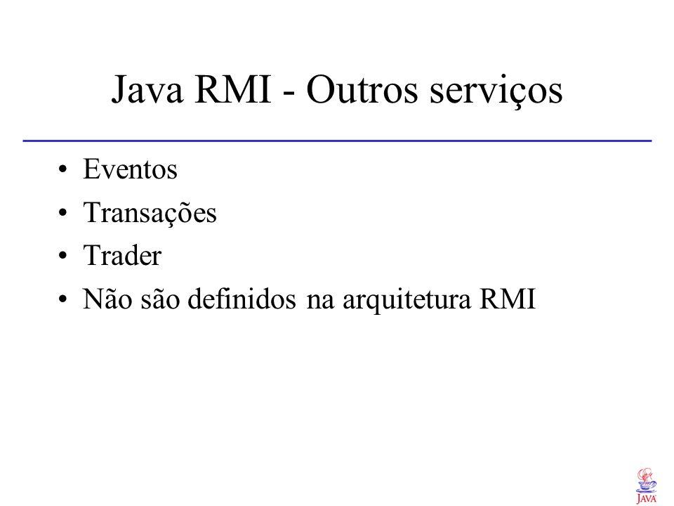 Java RMI - Outros serviços