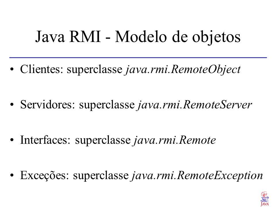 Java RMI - Modelo de objetos