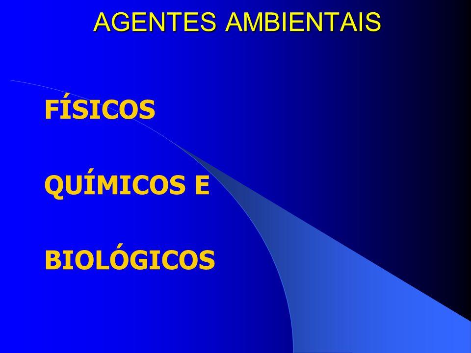 FÍSICOS QUÍMICOS E BIOLÓGICOS