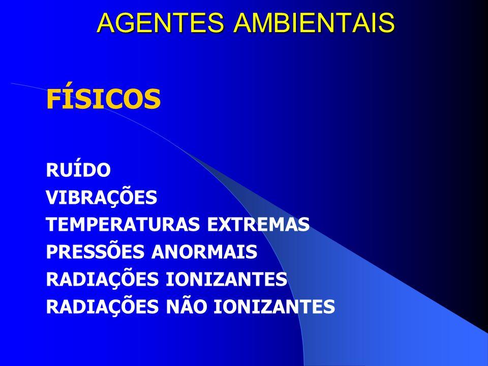 AGENTES AMBIENTAIS FÍSICOS RUÍDO VIBRAÇÕES TEMPERATURAS EXTREMAS
