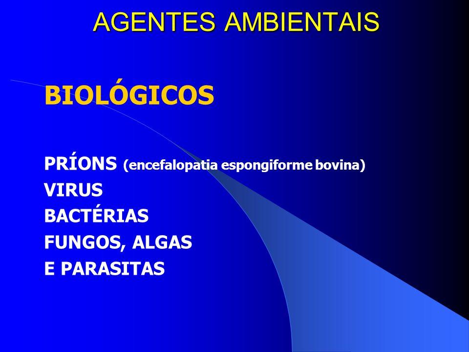 AGENTES AMBIENTAIS BIOLÓGICOS