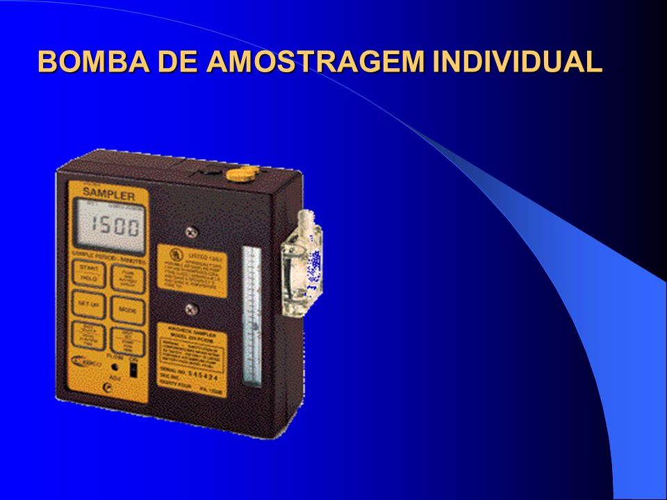 BOMBA DE AMOSTRAGEM INDIVIDUAL