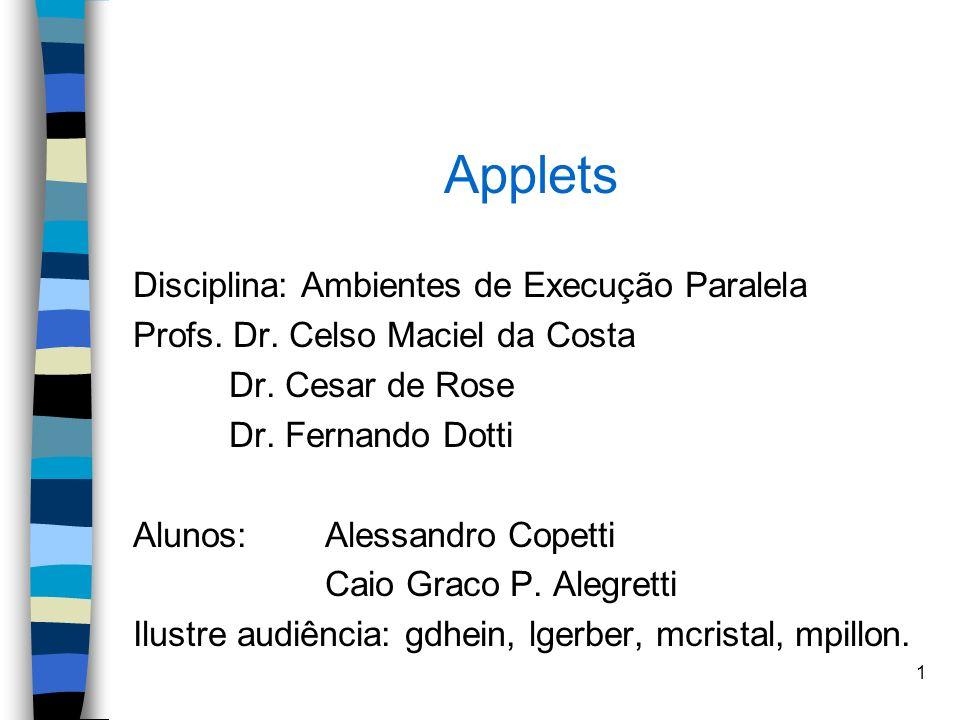 Applets Disciplina: Ambientes de Execução Paralela