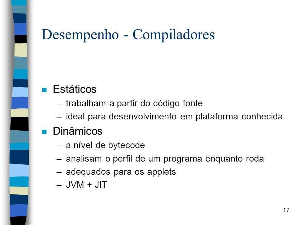 Desempenho - Compiladores