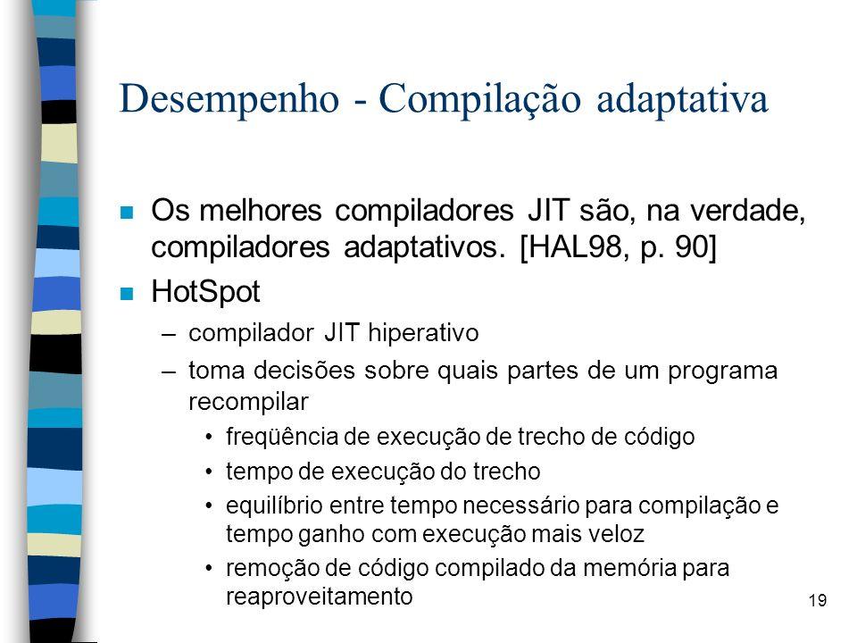 Desempenho - Compilação adaptativa