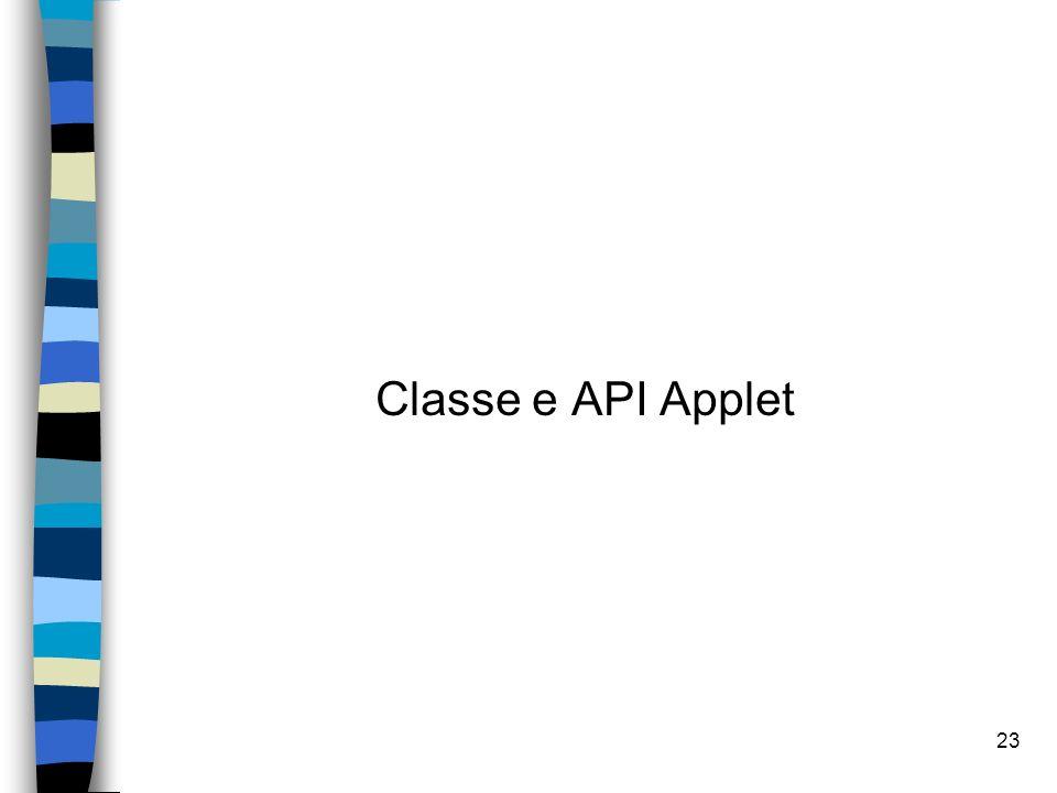 Classe e API Applet